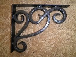 soci black iron works corbel granite quartz countertop shelf support cb007