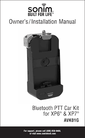 Sonim Xp7 Red Light Vk01011aa Bluetooth Ptt Car Kit User Manual Use Manual Sonim