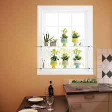 glass shelves bring life to your kitchen window with diy glass shelves
