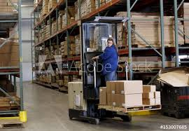 Hi Lo Driver Pamela Trierweiler Moves Product For Shipping