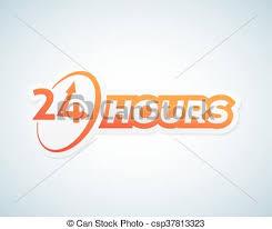 Signboard Template Twenty Four Hours Open Vector Sticker Sign Or Signboard Template