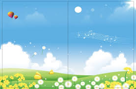 cartoon book cover vector background material