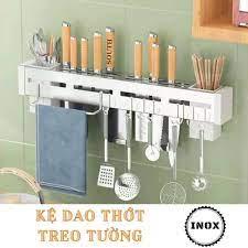 Kệ để dao thớt ống đũa dụng cụ nhà bếp đa năng Inox SDT11 Treo trường - Kệ  gia vị