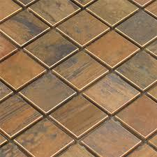 mosaic tiles copper metal design 23x23x8mm