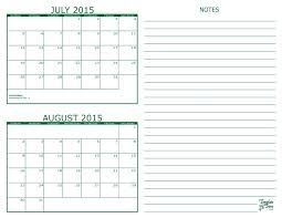 2 Month Calendar 2015 July August 792 On July And August 2015