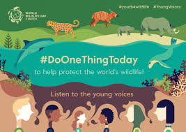 world wildlife day greening the blue world wildlife day 2017 encourages youth around the world to rally together to address ongoing major threats to wildlife including habitat change