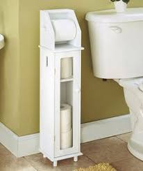 Furniture-Style Toilet Roll Storage holds up to four rolls inside and a roll  in use on the top. A great space-saving addition to your bathroom, ...