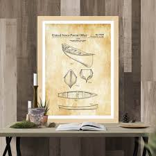 Canoe Patent Print – Boat Decor Print, Canoe Poster, Canoe Blueprint, Naval  Art, Nautical Decor – myPatentPrints.com