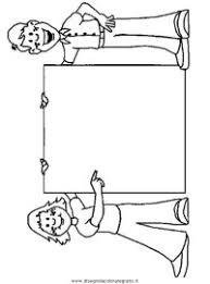 Disegno Di Maestra Alla Lavagna A Colori Per Bambini