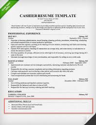 Cashier Resume Skills Section Example In Top Templates For Hr