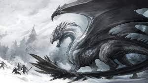48+] Black and White Dragon Wallpaper ...
