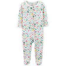 carter\u0027s® Zip-Up Floral Thermal Sleep \u0026 Play Footie Baby Girl Sleepwear | Girls Night Gowns Pajamas buybuy BABY