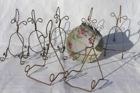 Cup And Saucer Display Stands gold twisted wire display stand racks tea cups saucer holders 46