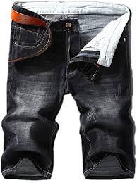 <b>Men</b> Denim Shorts <b>Summer</b> Style Thin Section <b>Elastic</b> Force Slim Fit ...