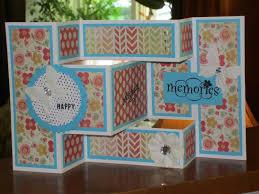 Folded Birthday Card Tri Fold Birthday Card Scrapbook Com Shaped Cards