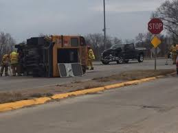 3 injured after truck hits school bus | KPTM