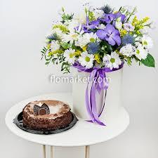 <b>Композиция</b> «<b>Облако нежности</b>» с тортом - заказать и купить за ...