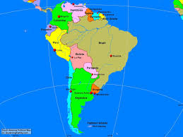 South America Political Map A Learning Family