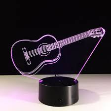 new guitar 3d l remote touch colorful table ls creative gifts novelty powerbank 3d night light