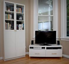 White Corner Cabinet Living Room Minimalist White Living Room Decoration Using White Floor Standing