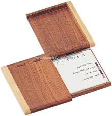 Unique Unusual Laser Engraved Wooden Business Card Holders