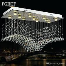 rectangular flush mount chandelier