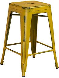 distressed metal furniture. Perfect Metal 24u0027u0027 HIGH BACKLESS DISTRESSED METAL INDOOROUTDOOR BAR STOOL  9 COLORS For Distressed Metal Furniture R