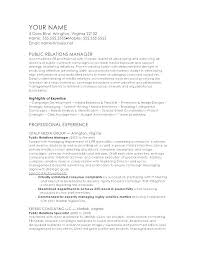 Brand Specialist Sample Resume Adorable Public Relations Resume Sample Manager Template Examples Affairs