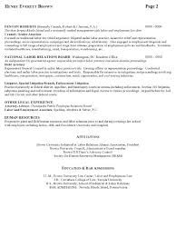 Sample Employment Resume Resume Sample 7 Attorney Resume Labor Relations