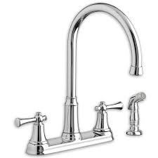 portsmouth 2 handle high arc kitchen faucet with side spray american standard