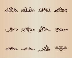 Design Decorative Extraordinary Vector Set Decorative Design Elements Free Vector Graphics All