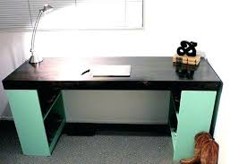 Homemade office desk Spare Bedroom Homemade Office Desk View In Gallery With Bookshelf Legs Ideas Diy Wood Easy To Build Office Desk Blueprints Homemade Neodesportosclub Home Office Desk Plans Fine Homemade Computer Wood Naturesbootcampcom