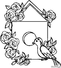 Small Picture Coloring page Bird house Coloringme