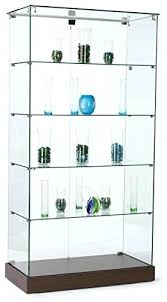 glass tower jewelry display case tempered with wheels zen stands at inches tall hinged locking glass tower display case