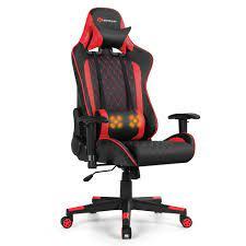 goplus mage gaming chair reclining