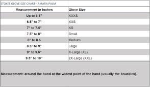 Water Ski Size Chart Stokes Grabber Gloves