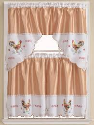 Kitchen Curtains With Rooster Designs