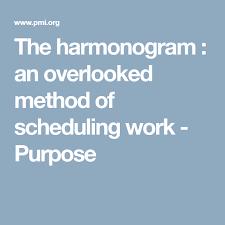 The Harmonogram An Overlooked Method Of Scheduling Work