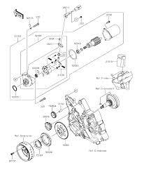 2017 kawasaki z125 pro br125jhf starter motor parts best oem