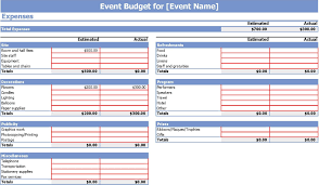 budgets sample event budgets the basics and some lessons you don t want to learn