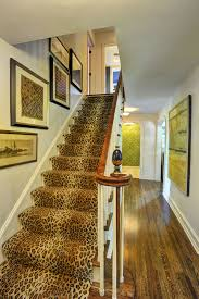 leopard print stair runner would make a statement in any interior