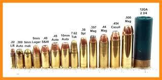 22 Symbolic Rifle Calibers By Size Chart