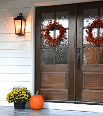 wood exterior entry doors with gl door window