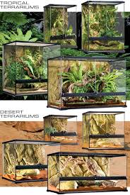 the exo terra glass terrarium is the ideal reptile or amphibian housing designed by european herpetologists the front opening doors allow easy access for
