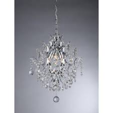 warehouse of tiffany ellaisse 3 light chrome crystal chandelier for incredible property home depot crystal chandelier plan