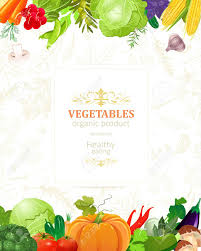 Vegetable Border Design Banner With Border Of Vegetables For Your Design