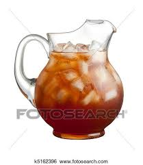 iced tea pitcher clipart. Unique Clipart Ice Tea Pitcher Isolated On A White Background For Iced Clipart Fotosearch