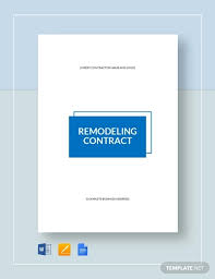 Kitchen Remodeling Templates 12 Remodeling Contract Templates Docs Word Pages Free