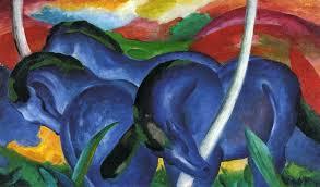 franz marc the large blue horse 1911