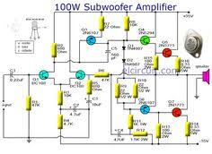 400w amplifier 2n3055 mj2955 power amplifier it is a circuit diagram of a subwoofer amplifier transistor fully used as the main amplifier which can produce an output of there are seven transistors